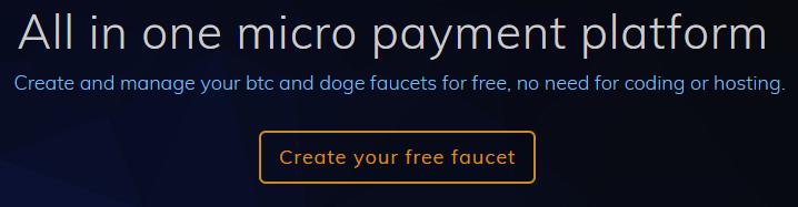ottenere il vostro rubinetto bitcoin)