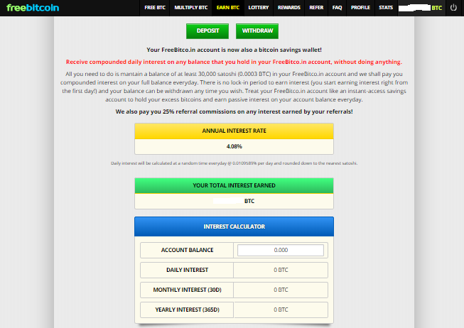 earn 200$ with the faucet and earn interest every day in this section